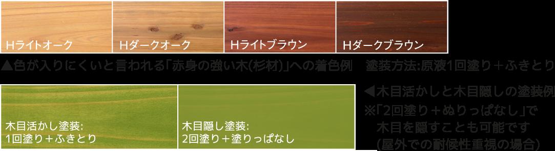色が入りにくいと言われる木材へと着色と塗り方